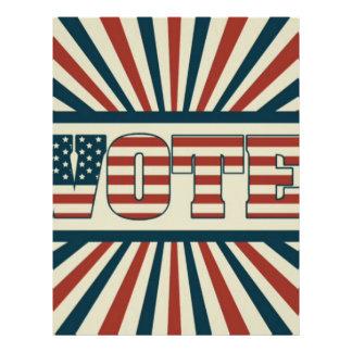 Retro vote, all gear letterhead