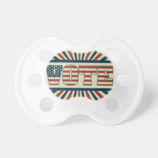 Retro vote, all gear pacifier
