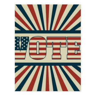 Retro vote, all gear postcard