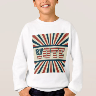 Retro vote, all gear sweatshirt