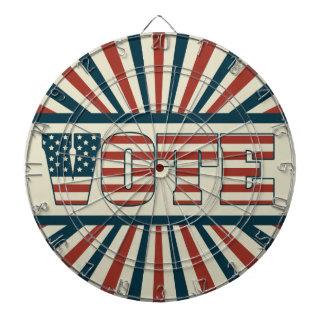 Retro voting gear dartboards
