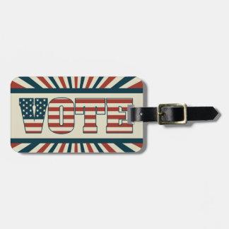 Retro voting gear luggage tag