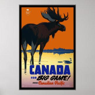 Rétro voyage vintage Canada d'image d'impression Poster