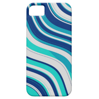 Retro Wavy Stripes Pattern (Blue, Aqua, White) Case For The iPhone 5