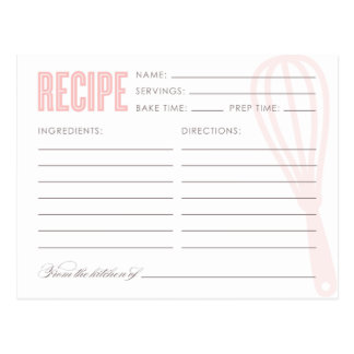 RETRO WHISK | RECIPE CARDS POSTCARD
