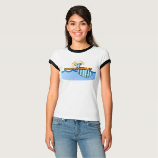 Retro White Save the Whales, Ringer T-Shirt