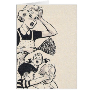 Retro Wife - A Mom at Her Wit's End Card