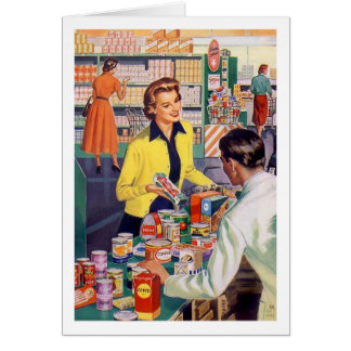 Retro Wife - Grocery Store Frustrations, Card