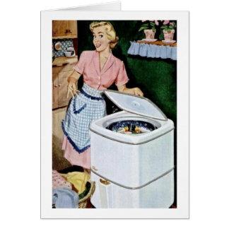 Retro Wife - Laundry Day, Card