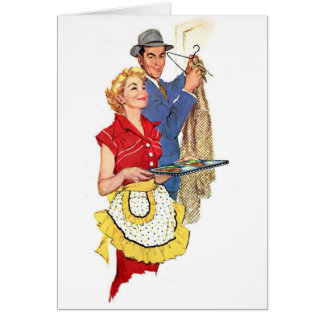 Retro Wife - The Pool Boy Came! Card