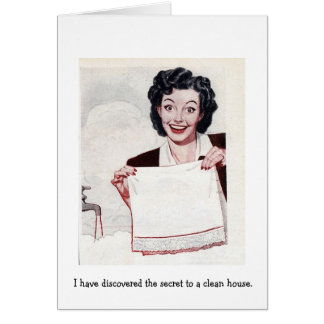 Retro Wife - The Secret to a Clean House, Card