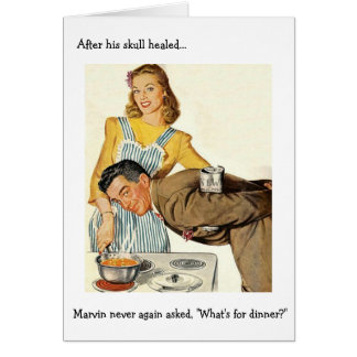 Retro Wife - What's for Dinner?, Card