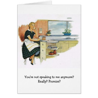 Retro Wife - You're Not Speaking to Me?, Card