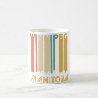 Retro Winnipeg Manitoba Canada Skyline Coffee Mug