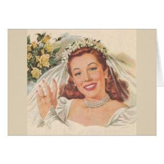 Retro Woman - Cinderella Got Married, Card