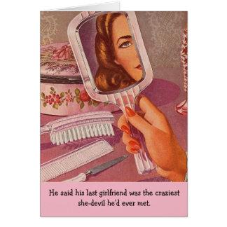 Retro Woman - Crazy Girlfriend, Card