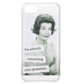 Retro Woman iPhone 5 Case, Grammar Teacher iPhone 5C Covers