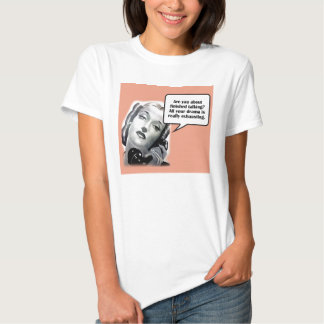 Retro Woman on Phone, Drama Tee Shirt