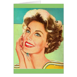 Retro Woman - Seeing Your Ex With a Downgrade, Card