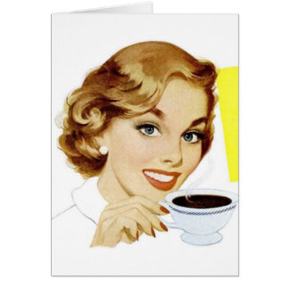 Retro Woman - Shut Your Piehole, Card
