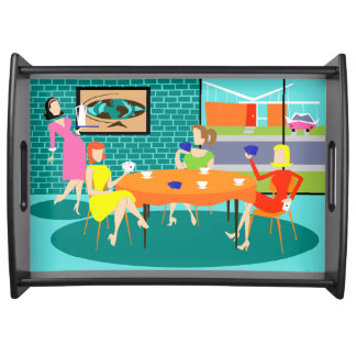Retro Women's Weekly Card Game Serving Tray