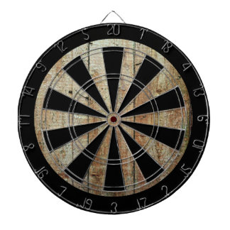 Retro Wood Wooden Texture Pattern Dartboard