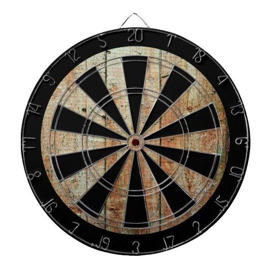 Retro Wood Wooden Texture Pattern Dartboard