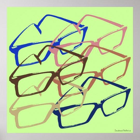 Retro Work Safety Glasses Artwork Poster