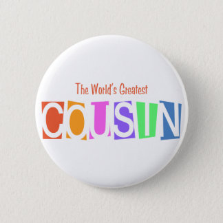 Retro World's Greatest Cousin 2 Inch Round Button
