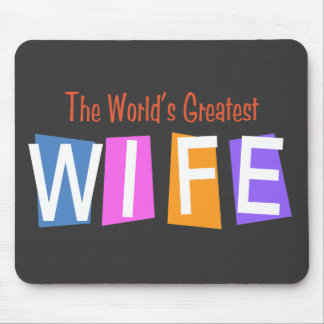 Retro World's Greatest Wife Mouse Pad