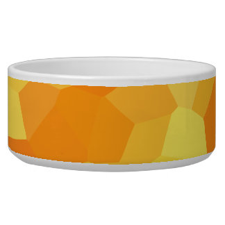 Retro Yellow and Orange Stained Glass Fall Mosaic