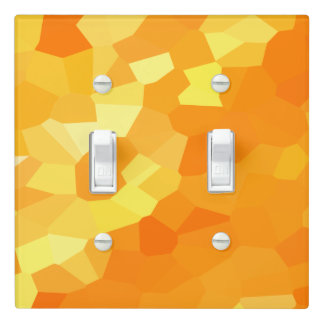 Retro Yellow and Orange Stained Glass Fall Mosaic Light Switch Cover