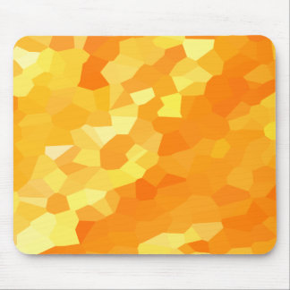 Retro Yellow and Orange Stained Glass Fall Mosaic Mouse Pad