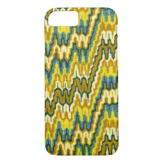 Retro Yellow Chevron Abstract Wavy Lines iPhone 8/7 Case