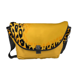 Retro Yellow Leopard Print Skin and Modern design Courier Bags
