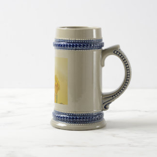 Retro Yellow Narcissus Daffodil Vintage Beer Stein