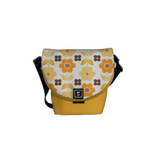 Retro Yellow/Orange Flowers Commuter Bag