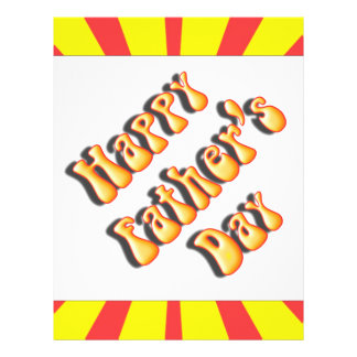 Retro Yellow Red For Father s Day Full Color Flyer