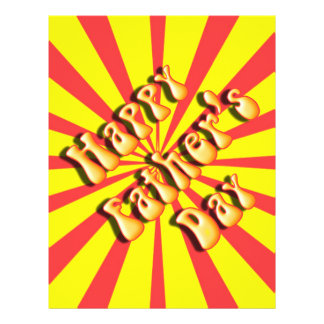 Retro Yellow & Red For Father's Day Full Color Flyer