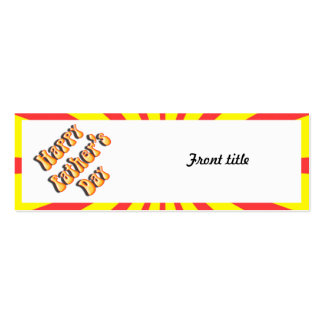 Retro Yellow & Red For Father's Day Pack Of Skinny Business Cards