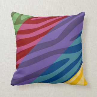 Retro Zebra Print Skin Pattern Throw Pillow