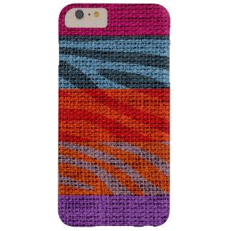 Retro Zebra Skin Print Pattern Burlap Rustic #9 Barely There iPhone 6 Plus Case