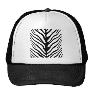 Retro Zebra Stripe Motif Trucker Hat