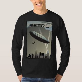 Retro Zeppelin Skyline Long Sleeve T-Shirt
