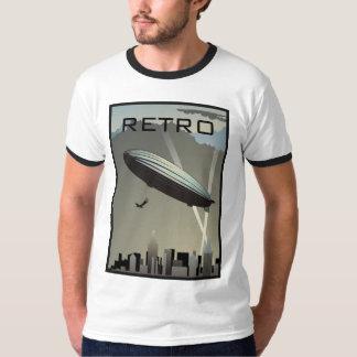 Retro Zeppelin Skyline Ringer T-Shirt