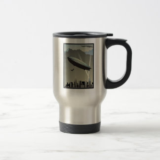 Retro Zeppelin Skyline Travel Mug