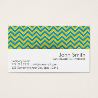 Retro Zigzag Marriage Counseling Business Card