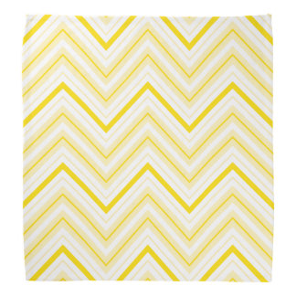 Retro Zigzag Pattern Yellows & White Bandana