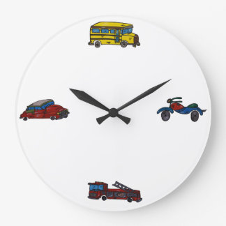 retrocar large clock