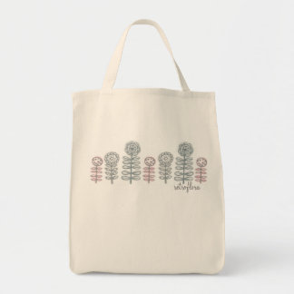 retroflora line grocery tote with  type